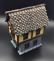 28mm High Quality Terrain Painted Fantasy Townhouse - Great with Dwarven Forge