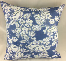 China Blue Flower Design on White Background Evans Lichfield Cushion Cover