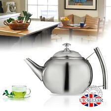 1000ML Stainless Steel Teapot Tea Pot Coffee Kettle With Tea Leaf Filter Infuser