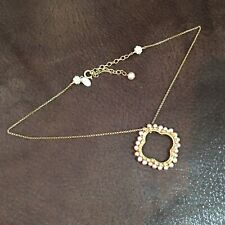 Signed Miguel Ases Beaded Pearl  Pendant 14K GF Necklace