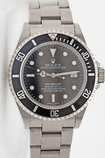 MINT Genuine ROLEX Sea Dweller SS Mens Watch & BOX & WARRANTY