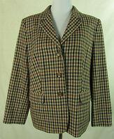 Edler FOREST HILL Tweed Blazer, Jacke m. Schurwolle beige-braun kariert Gr. 44