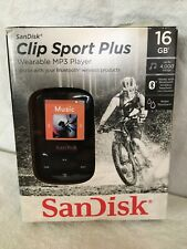 SanDisk Clip Sport Plus Wearable MP3 Player Black 16 GB 4000 Song Water Resistan