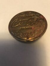 COCA-COLA BRASS VENDOR LICENSE BADGE, USED