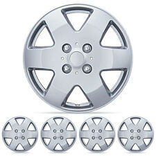 """4 PC Set 15"""" Silver Hubcaps Wheel Cover OEM Replacement ABS"""