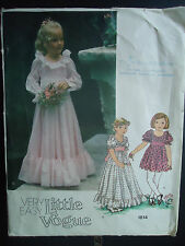 Vtg Little Vogue Toddler Girls Fitted Tiered Dress Size 3 Pattern 1814 Uncut
