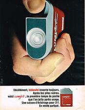PUBLICITE ADVERTISING 114  1966  LUMIJET   de LECLANCHE   lampe de poche