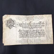 RARE Grande Calligraphie Allemande À La Main 17thC 18thC Handmade