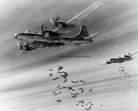 """Boeing B-29 Bombers drop bombs on Burma 8""""x 10"""" World War II Photo Picture 240"""