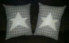 Pillow Primitive Stitched Country Spring Barn Star Pair Home Decor Sofa Cushion