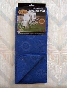 Nautical Drying Mat Kay Dee Nautical Pattern Reversible Embossed Polyester Micro