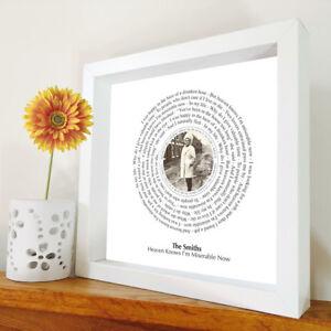 The Smiths - Heaven knows - framed song lyrics - Morrissey - Jonny Marr artwork