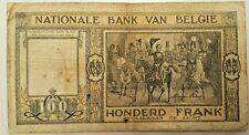 BELGIUM  100 Francs 1948  P - 126      BELGIQUE CENT FRANCS - 1948