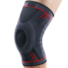Kuangmi Knee Sleeve Support Compression Brace Anti Slip Pain Relief Size XXL