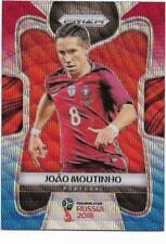 2018 Panini FIFA World Cup Blue Red Wave Prizm (158) Joao MOUTINHO Portugal