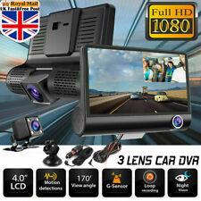 "4""Dual Lens 1080P Car Front and Rear DVR Dash Cam Video G-sensor Recorder Camera"