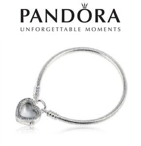 PANDORA Regal Heart Padlock Bracelet