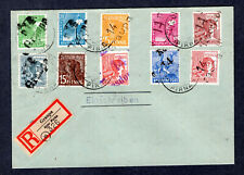1948 Germany HOP, Bezirk 14 GRAUPA & 14 DRESDEN Registered Cover, w Mi. # 179 ll
