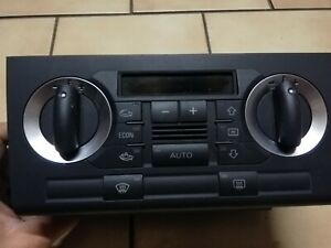 AUDI A3 2005 2.0TDI RHD / CLIMATE CONTROL SWITCH PANEL / 8P0820043H