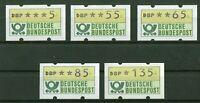 Bund ATM 1.1 hu VS 4 postfrisch 5/55/65/85/135 Pfennig BRD Automatenmarken MNH