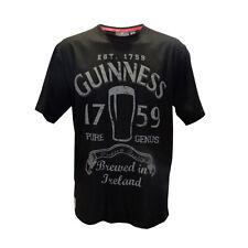 """Guinness Mens Black """"Pure Genius""""  Premium T-Shirt   Sizes (S-M)"""