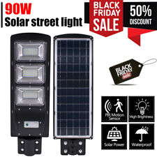 120000LM Commercial Solar Street Light LED Outdoor IP67 Dusk-to-Dawn Road Lamp