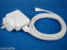 AC Wall Charger+2M USB Cable WHITE for Samsung Galaxy Tab 4 3 10.1 8.0 7.0 Kids