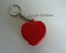 Tupperware Red Heart Shaped Keychain NEW