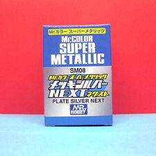 Mr. Hobby #SM08 Mr. Color Super Metallic - Plate Silver Next