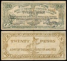 20 Pesos Philippine Free Negros Military US  Army WW2 Note
