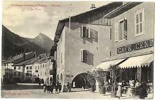 CPA 74 Haute-Savoie Tramway d'Annecy à Thones Thones La Place animé