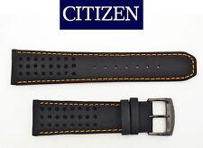 Citizen CA0467-11H ECO-DRIVE BLACK watch band 23mm STRAP orange stitches