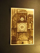 Wells Cathedral Clock, about 1910, real photo, Valentine & Sons, unused