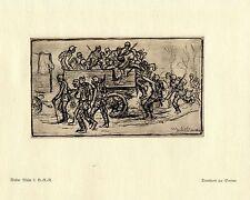 Walter Miehe 2.g. - r. - r. transporte a la guerra Somme pintor * era artist * 1.wk