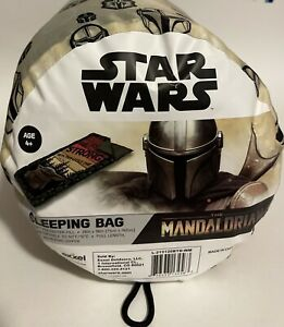 "Star Wars The Mandalorian Baby Yoda Kids Sleeping Bag 28"" x 56"" NEW Disney +"