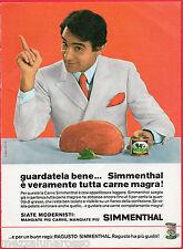 Pubblicità Advertising 1969 carne in scatola SIMMENTHAL - Walter Chiari
