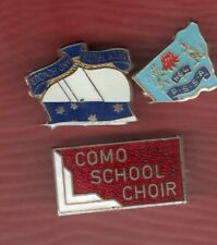 3 MIXED SCHOOL BADGES