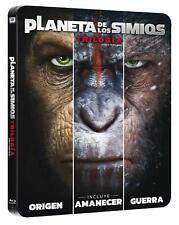 TRILOGIA EL PLANETA DE LOS SIMIOS BLU-RAY STEELBOOK BLACK METAL EDITION, ESPAÑA