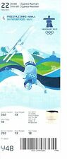 VANCOUVER 2010 WINTER OLYMPIC GAMES - FREESTYLE SKIING TICKET - MENS ARIALS