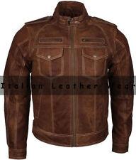 Leather Zip Neck Regular Size Coats & Jackets for Men