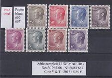 8  timbres du LUXEMBOURG Neufs de1965-66 Série complète  très bon état