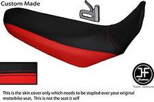 BLACK & RED VINYL CUSTOM FITS YAMAHA XT 660 R 04-17 DUAL SEAT COVER
