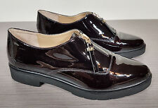 Michael Kors Dawson Loafer Zip-Detail Burgundy Patent LeatherWomens Size 8 /38.5