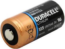 Duracell CR123 Heavy Duty CR17345 3V CR123A 3V Lithium Battery Camera  Exp 2028
