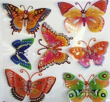 6 x 3D Butterfly Removable Foam Wall Stickers Sheet Art Decor Kid Room Bulk Lot