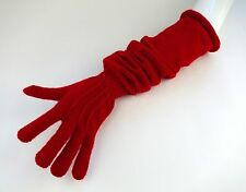MIU MIU Extra Long Red Wool Knit Full Length Opera Gloves Size Small ~NWT~