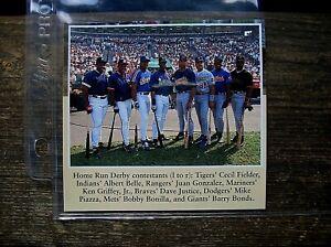 Cecil Fielder Ken Griffey Juan Gonzalez HR Derby 4X4 1993 ASG Poster Cut Oddball