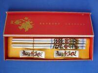 Gift Set of Chinese Dragon Porcelain Chopsticks