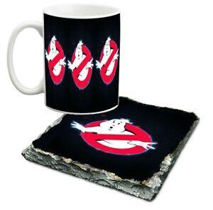 10 oz Ghostbusters (1) porcelain mug and slate coaster set