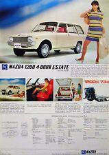 Mazda 1200 Familia Estate 1969-71 Original UK Sales Brochure Pub. No. A46907N